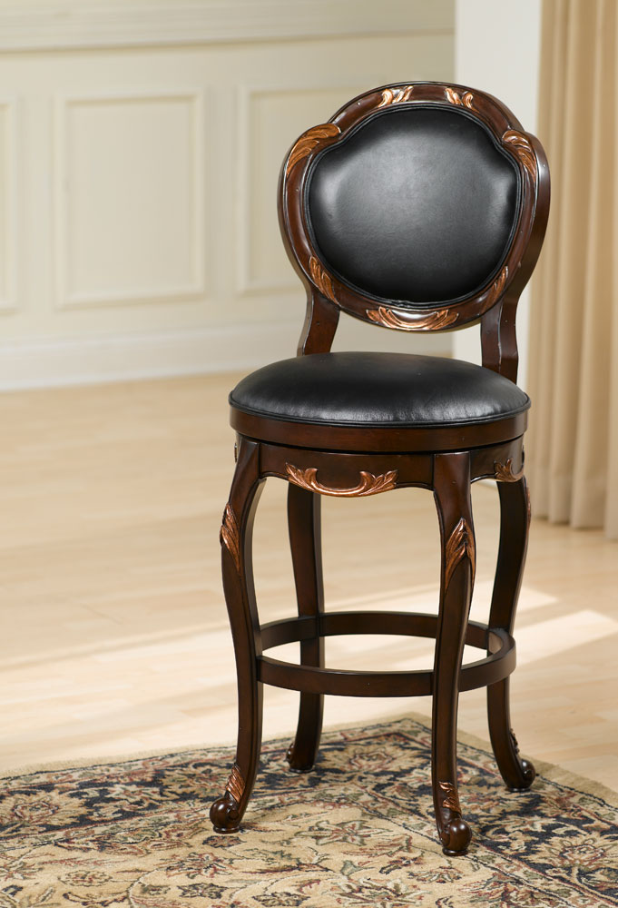 Hillsdale Alaina Swivel Bar Stool Distressed Cherry Copper Highlights Hd 63370 At