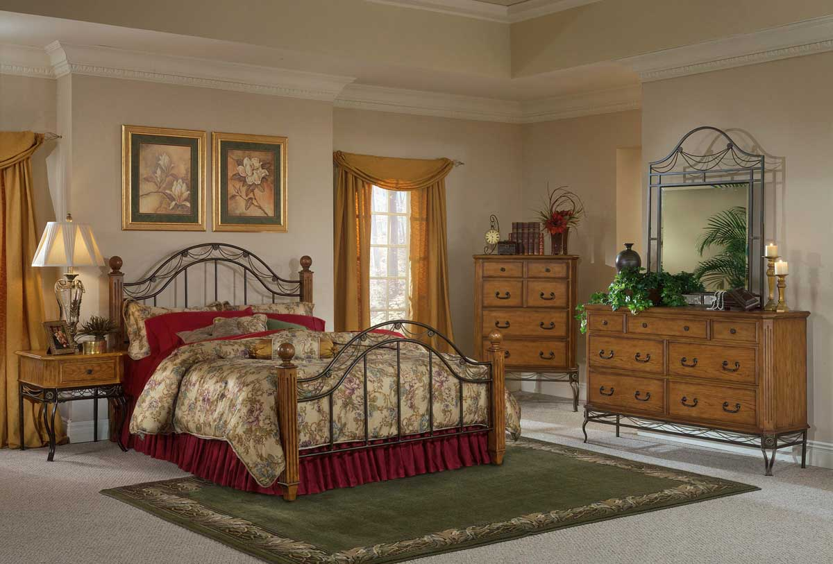 Hillsdale Camelot Bedroom Collection - Oak