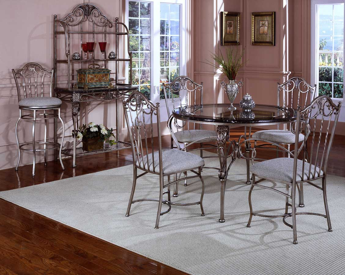 Hillsdale Ambrosia Marble Dining Collection