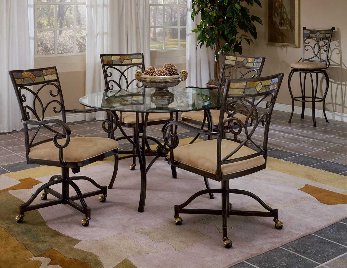 Hillsdale Pompei Dining Collection with Caster Chair