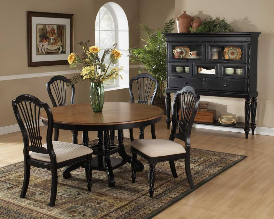 Hillsdale Wilshire Round Dining Collection - Rubbed Black
