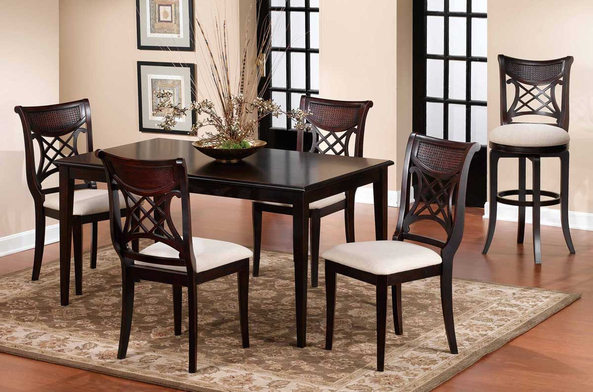 Hillsdale Glenmary Retangular Dining Collection - Dark Cherry