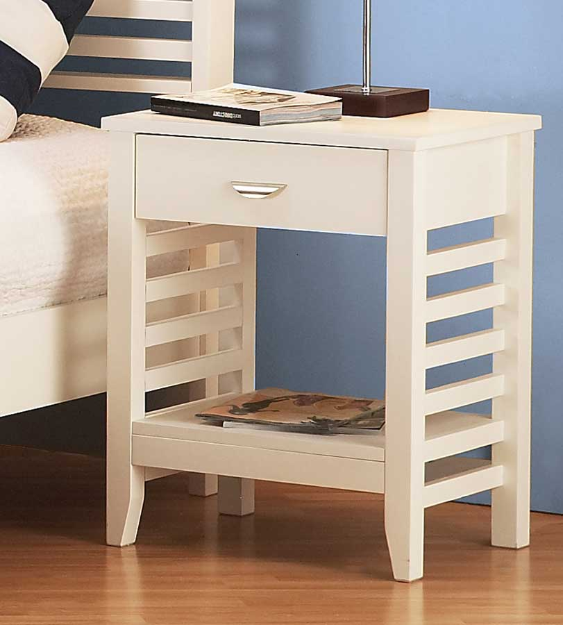 Hillsdale Dio Night Stand - White
