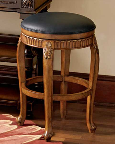 Cheap Hillsdale Furniture Backless Fleur De Lis Swivel Counter Stool