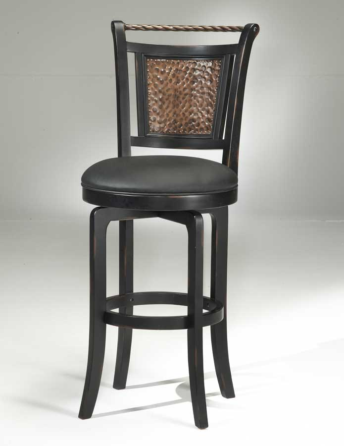 Hillsdale Norwood Copper Back Swivel Counter Stool