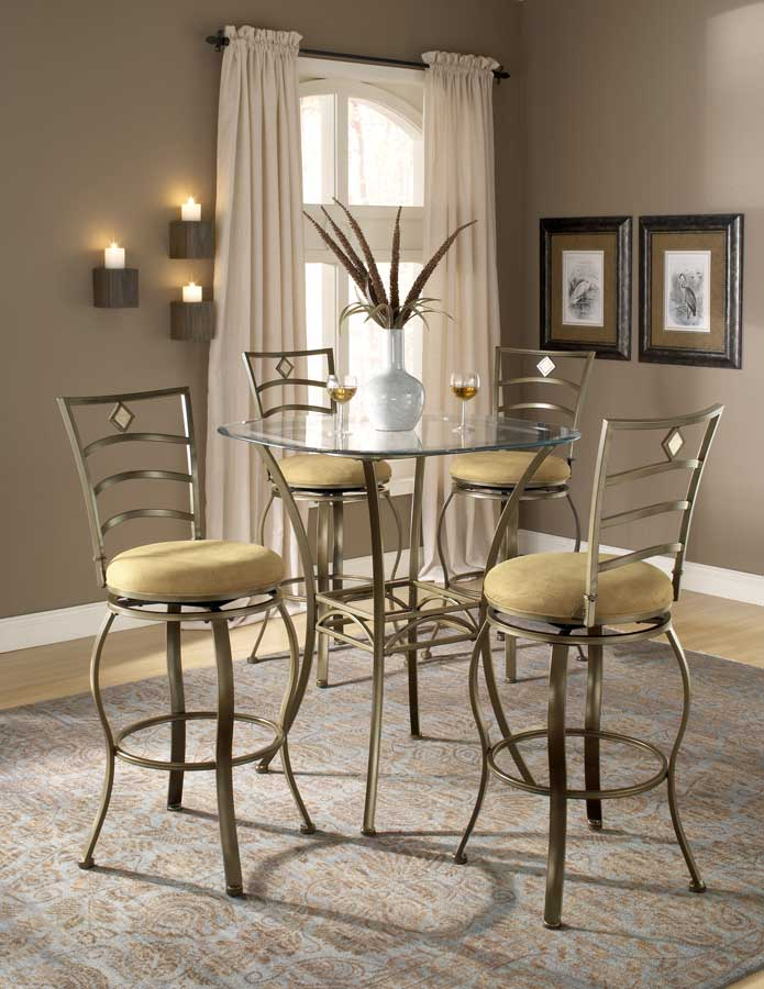 Hillsdale Brookside Bar Height Bistro Dining Collection Marin