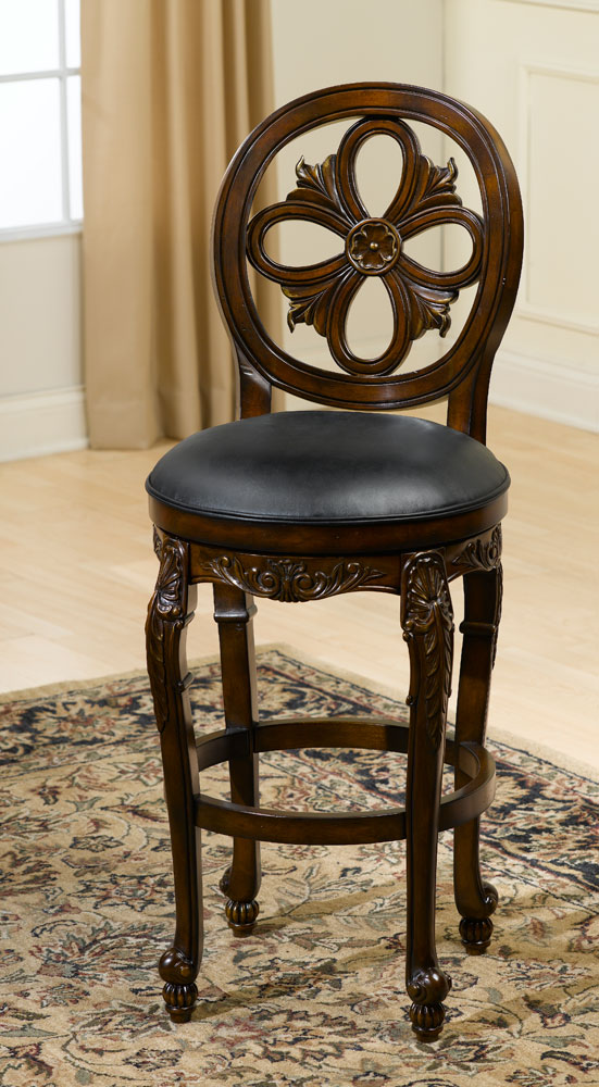 Hillsdale Rosalee Swivel Bar Stool Distressed Cherry