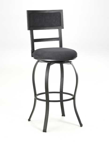 Cheap Hillsdale Furniture Trenton Metal Swivel Counter Stool With Black Microfiber