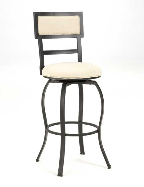 Hillsdale Trenton Metal Swivel Bar Stool With Fawn