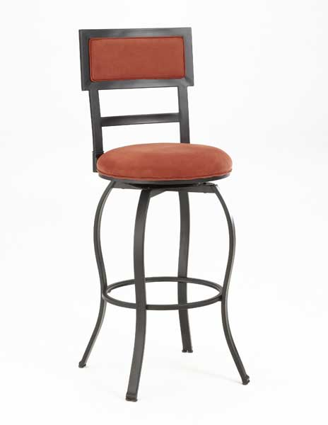 Hillsdale Trenton Metal Swivel Counter Stool With Flame