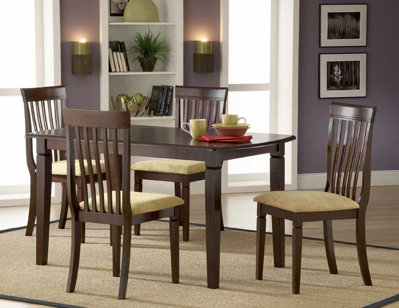 Hillsdale Verona Rectangular Dining Set With Slat Chairs