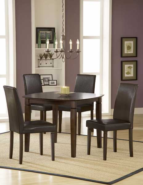 Hillsdale Verona Square Dining Set With Parson Chairs