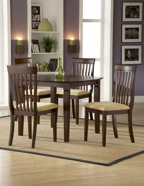 Hillsdale Verona Square Dining Set With Slat Chairs