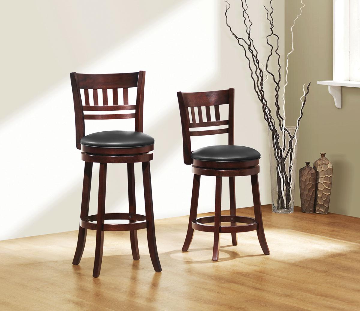 Homelegance Edmond Swivel Bar Height Chair