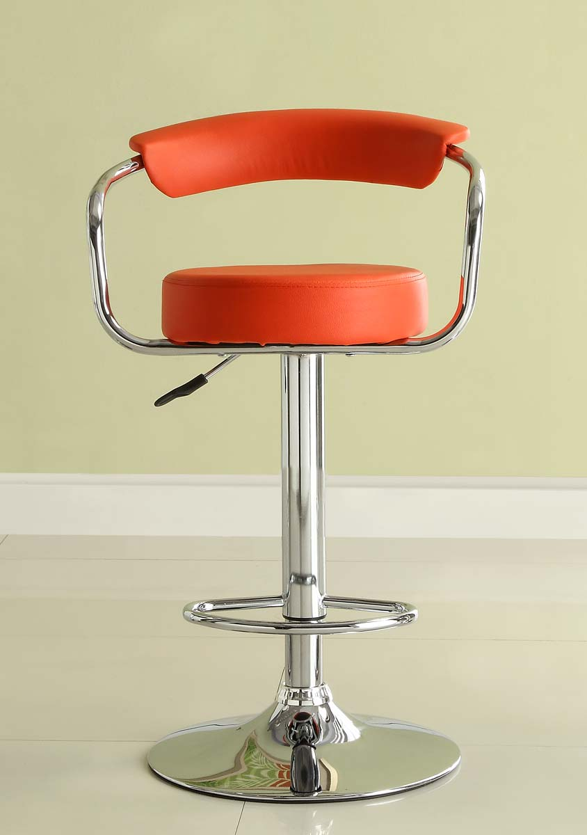 Homelegance 1149RED Ride Swivel Stool - Red