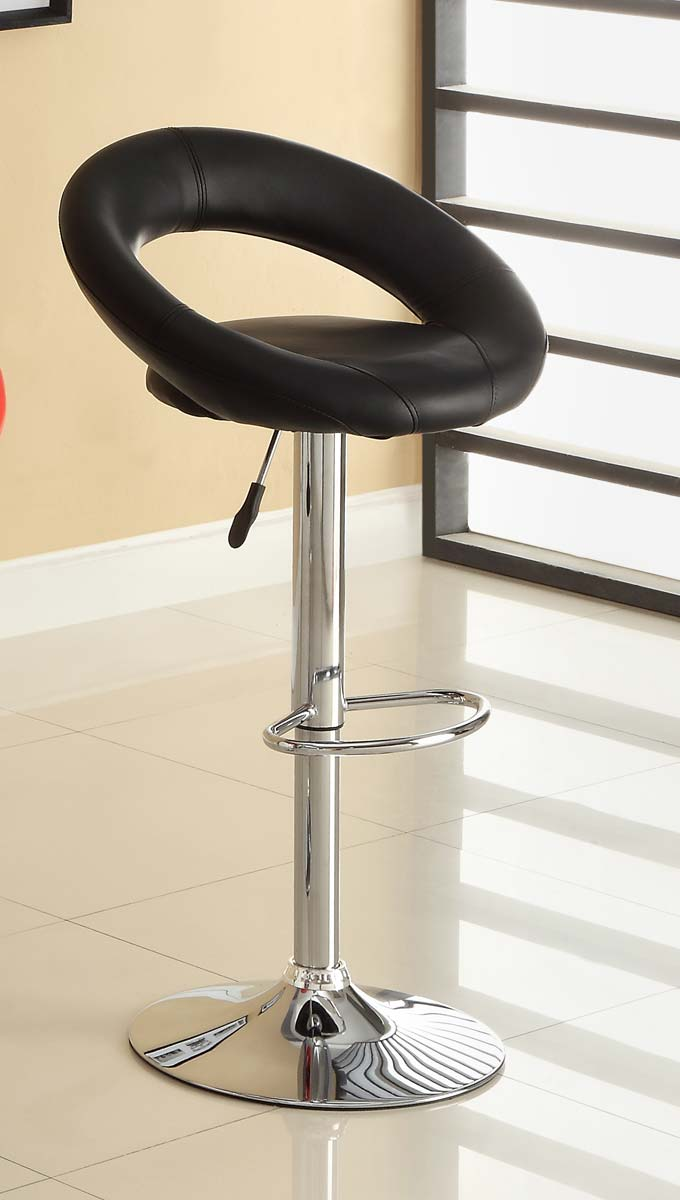 Homelegance 1155BLK Ride Swivel Stool - Black