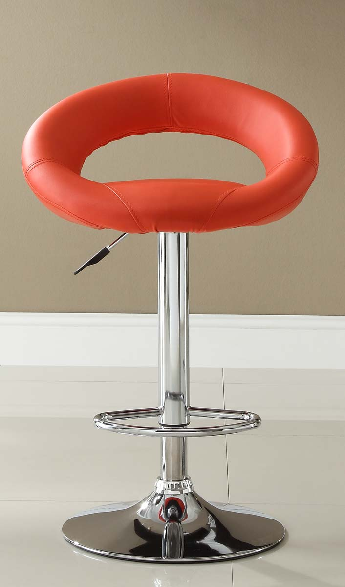 Homelegance 1155RED Ride Swivel Stool - Red