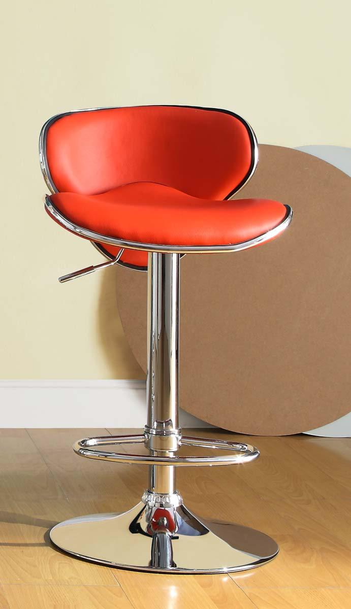 Homelegance 1156RED Ride Swivel Stool - Red
