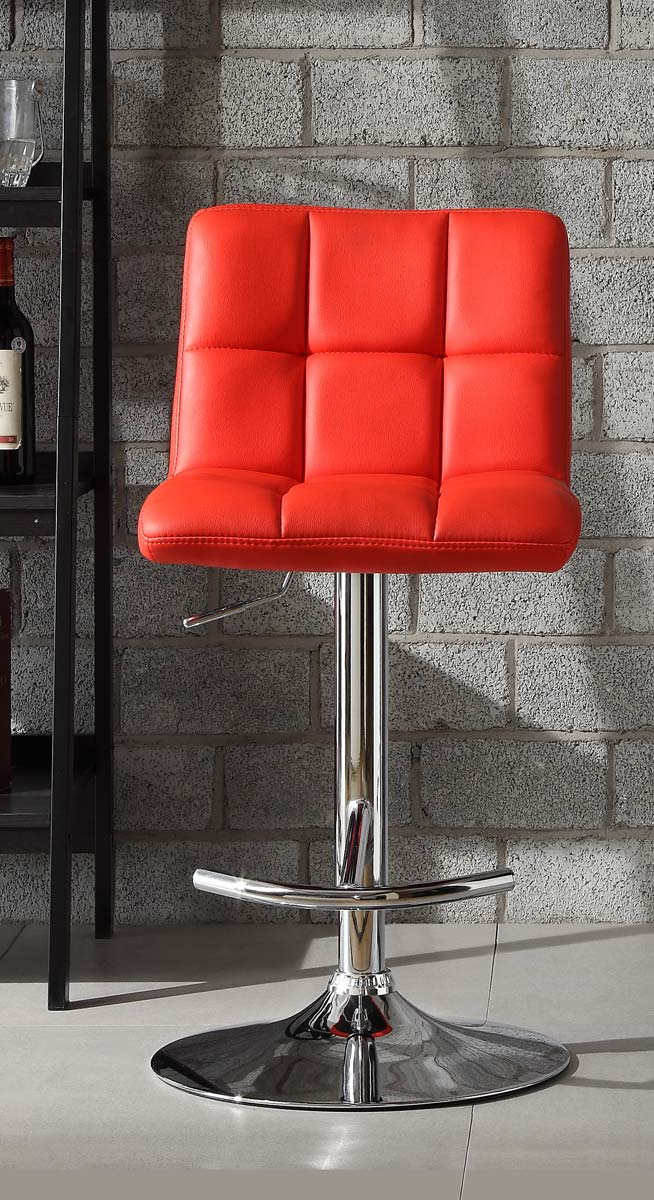 Homelegance 1157RED Ride Swivel Stool - Red