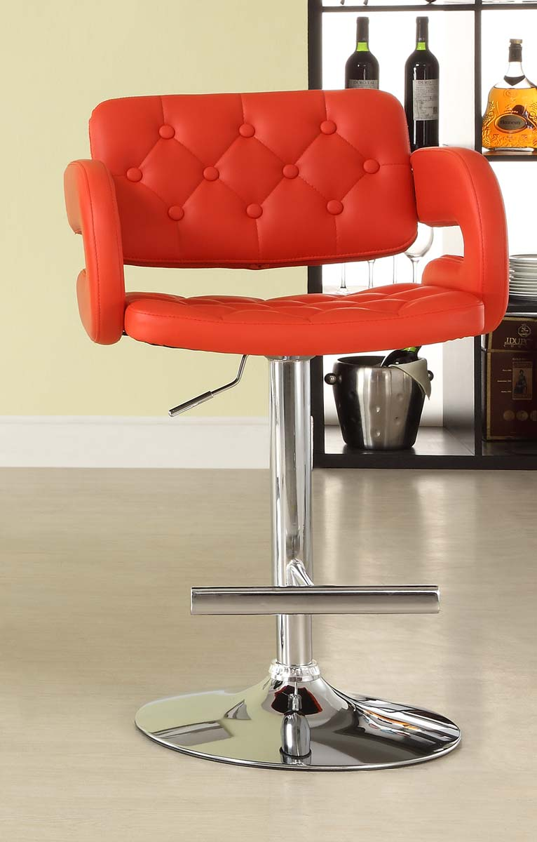 Homelegance 1178RED Ride Airlift Swivel Stool - Red