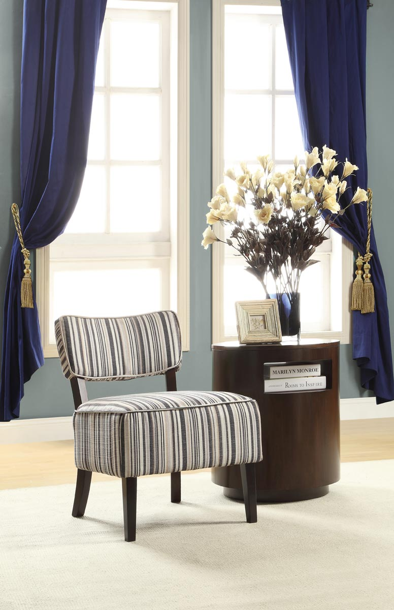 Homelegance Orson Accent Chair - Striped Fabric