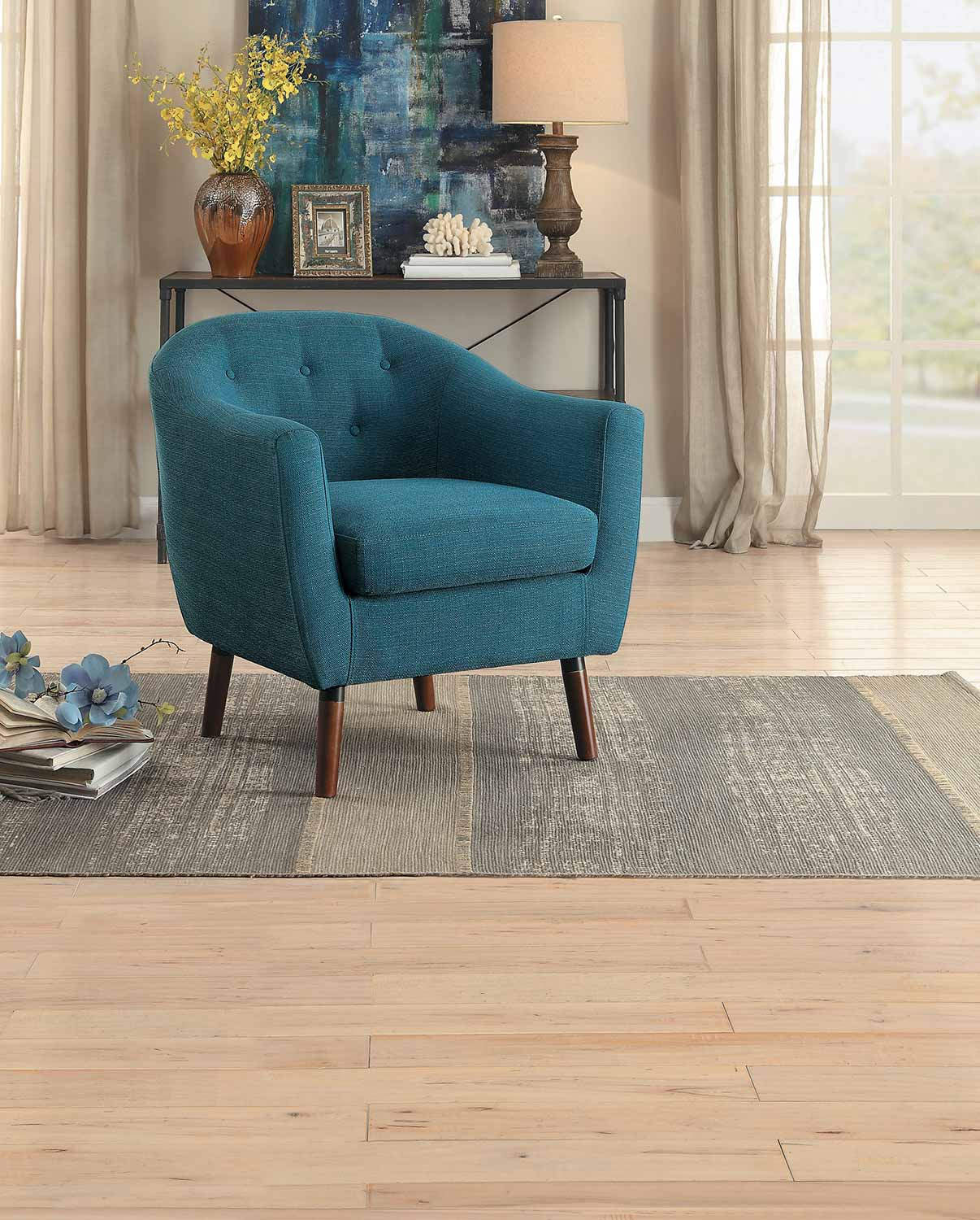 Homelegance Lucille Accent Chair - Blue