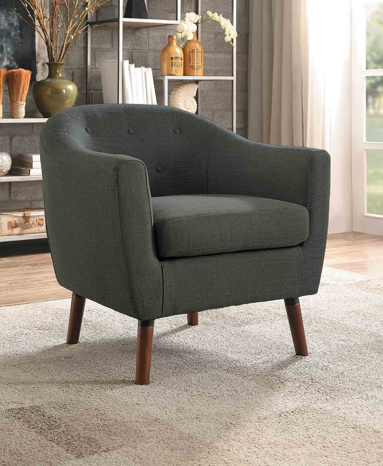 Homelegance Lucille Accent Chair - Gray