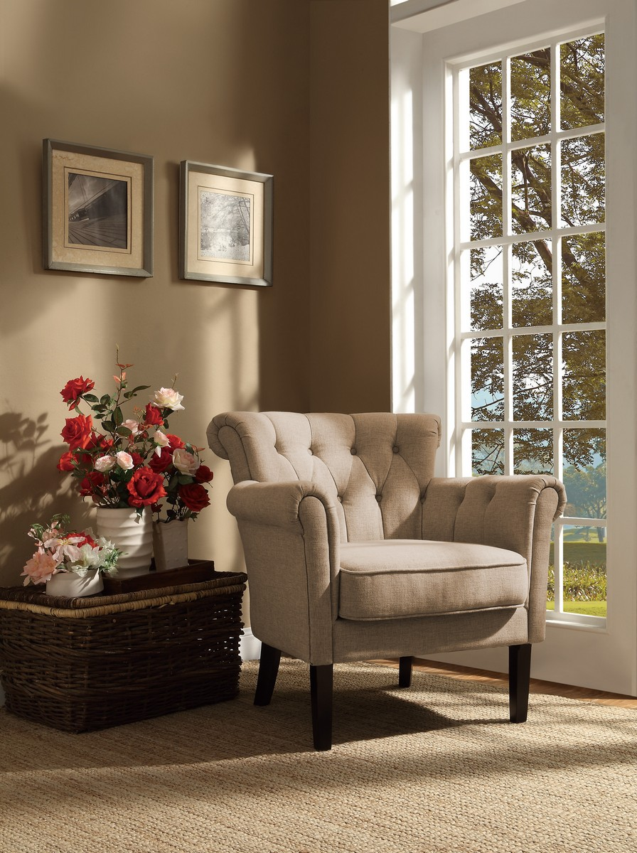 Homelegance Barlowe Accent Chair - Oatmeal