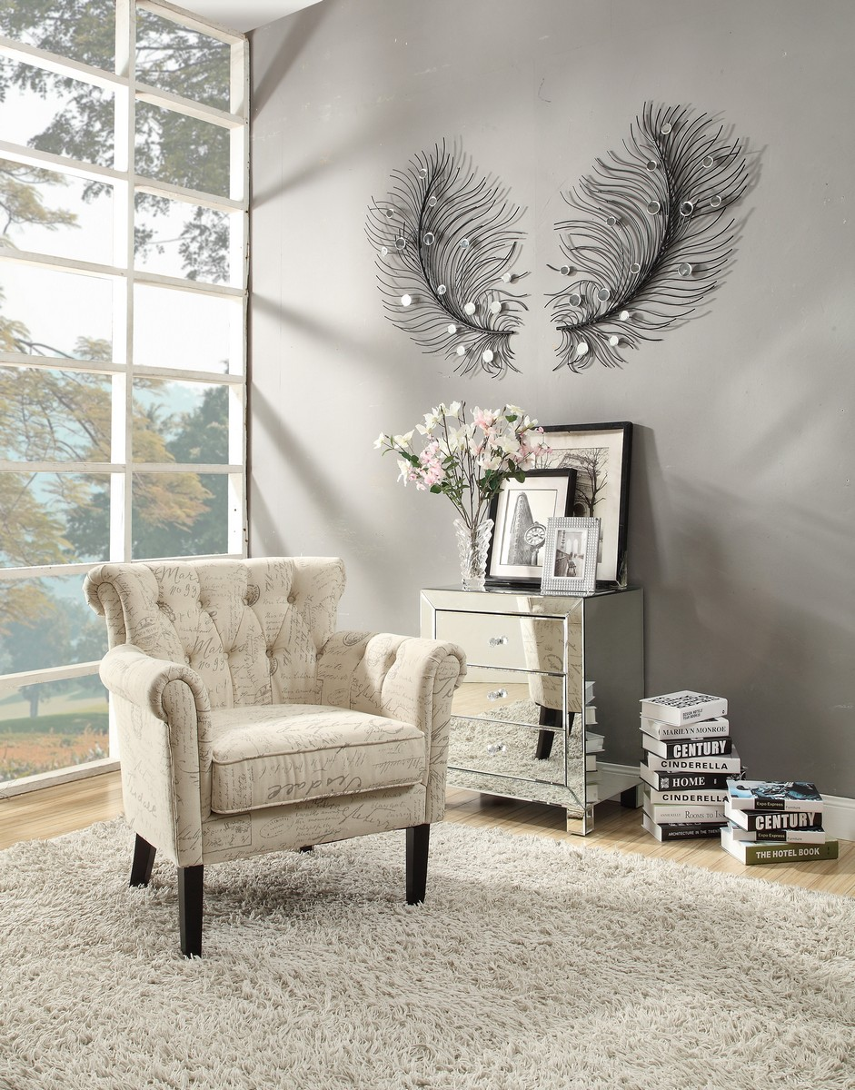 Homelegance Barlowe Accent Chair - French Note Pring