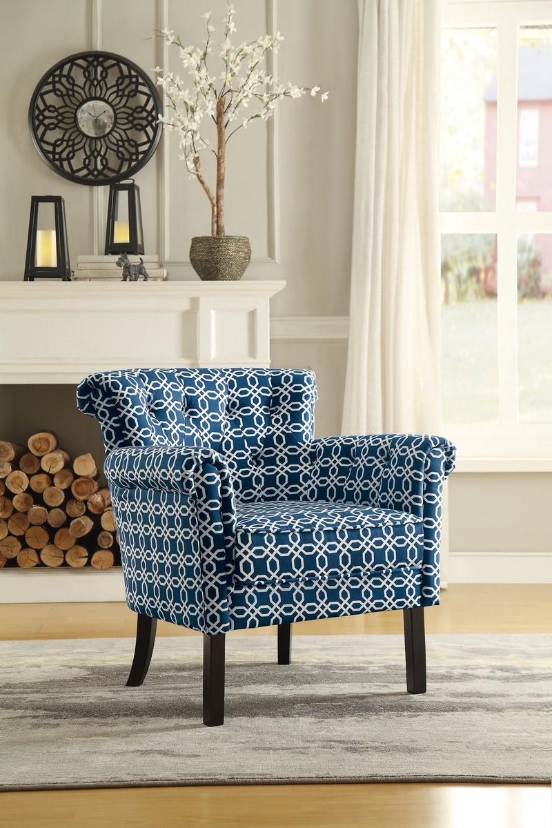 Homelegance Barlowe Accent Chair - Chain Link Print