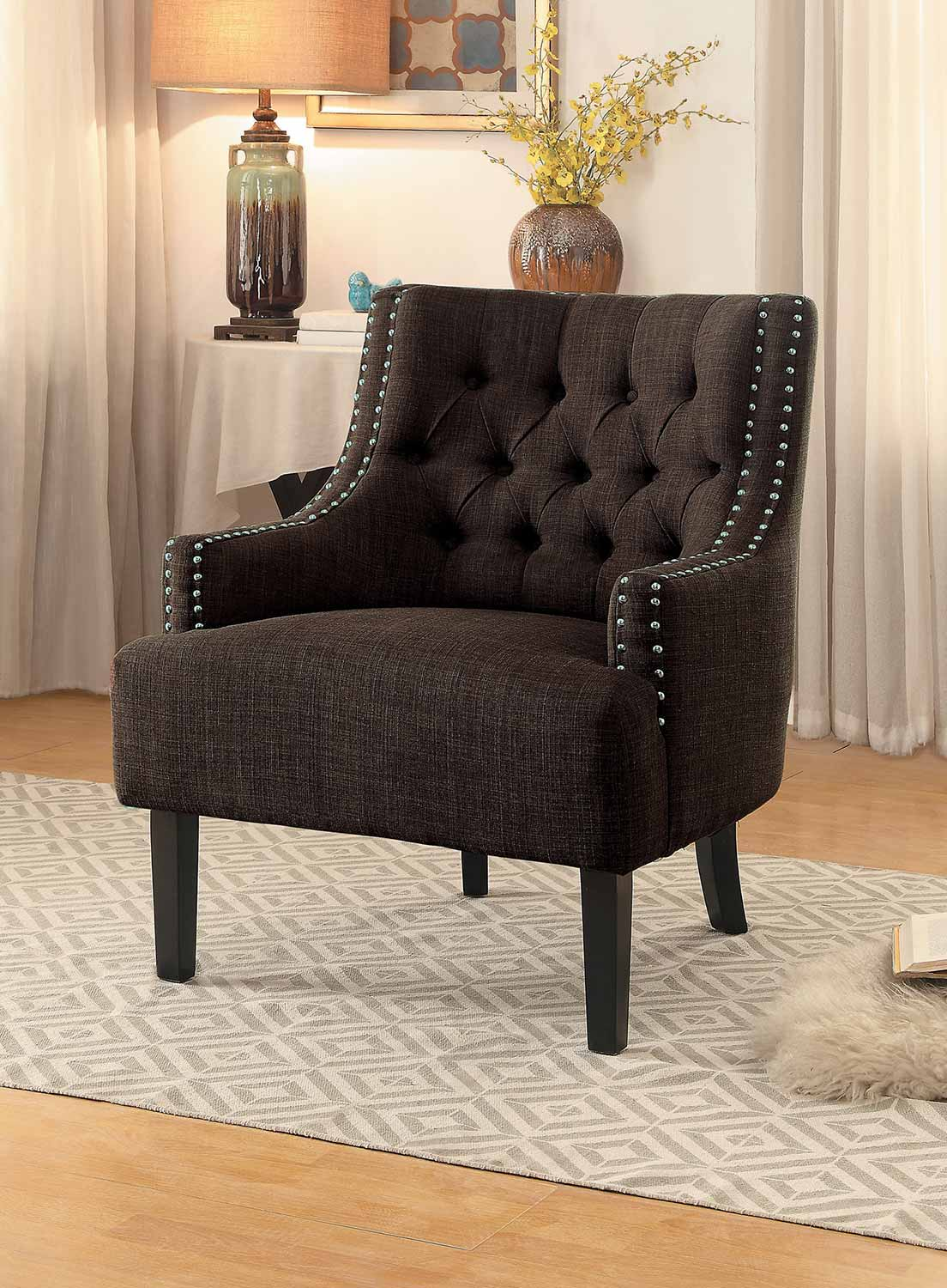 Homelegance Charisma Accent Chair - Chocolate