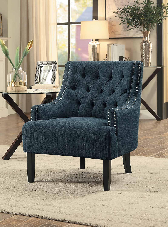 Homelegance Charisma Accent Chair - Indigo