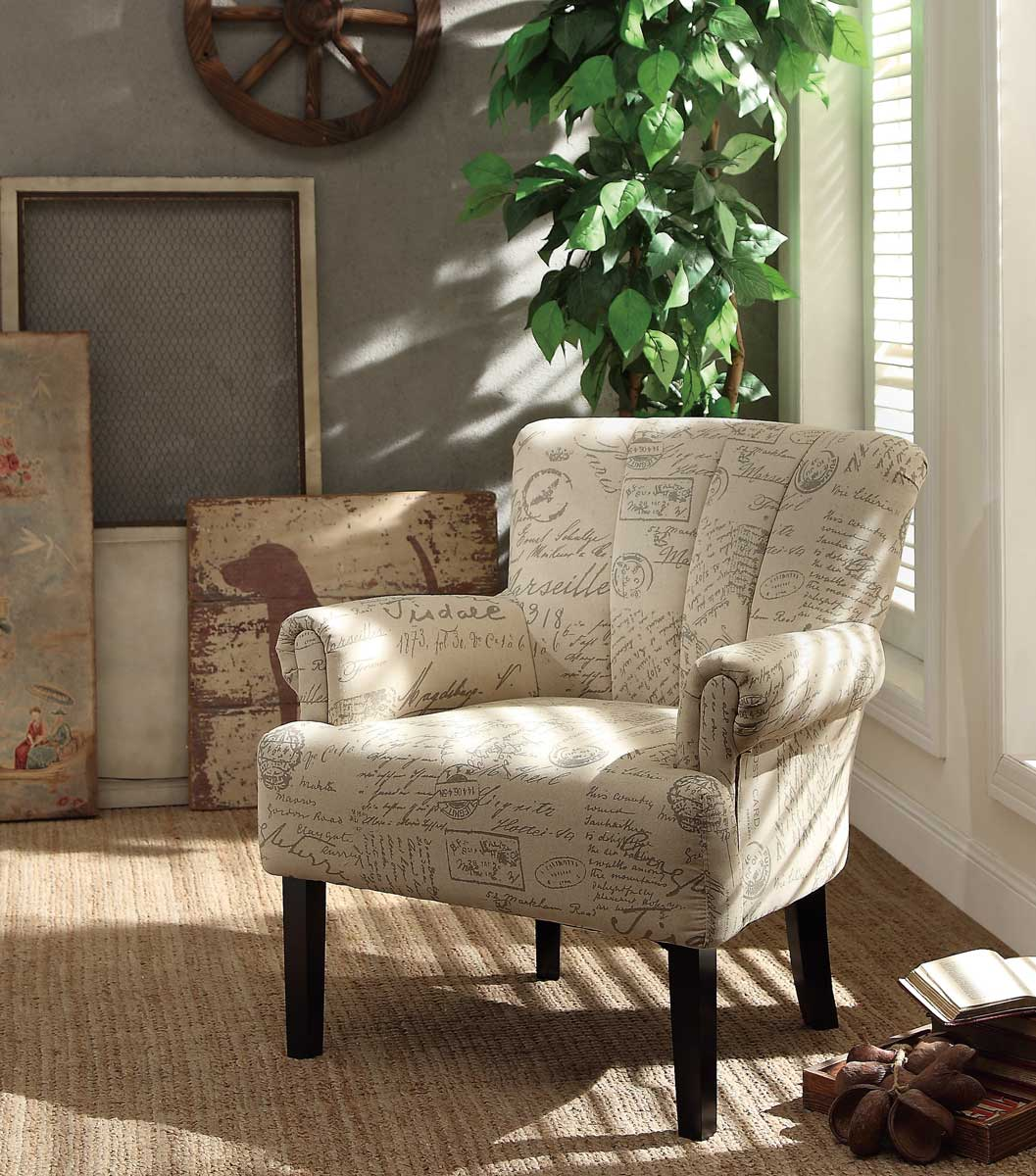 Homelegance Langdale Accent Chair - Vintage Print