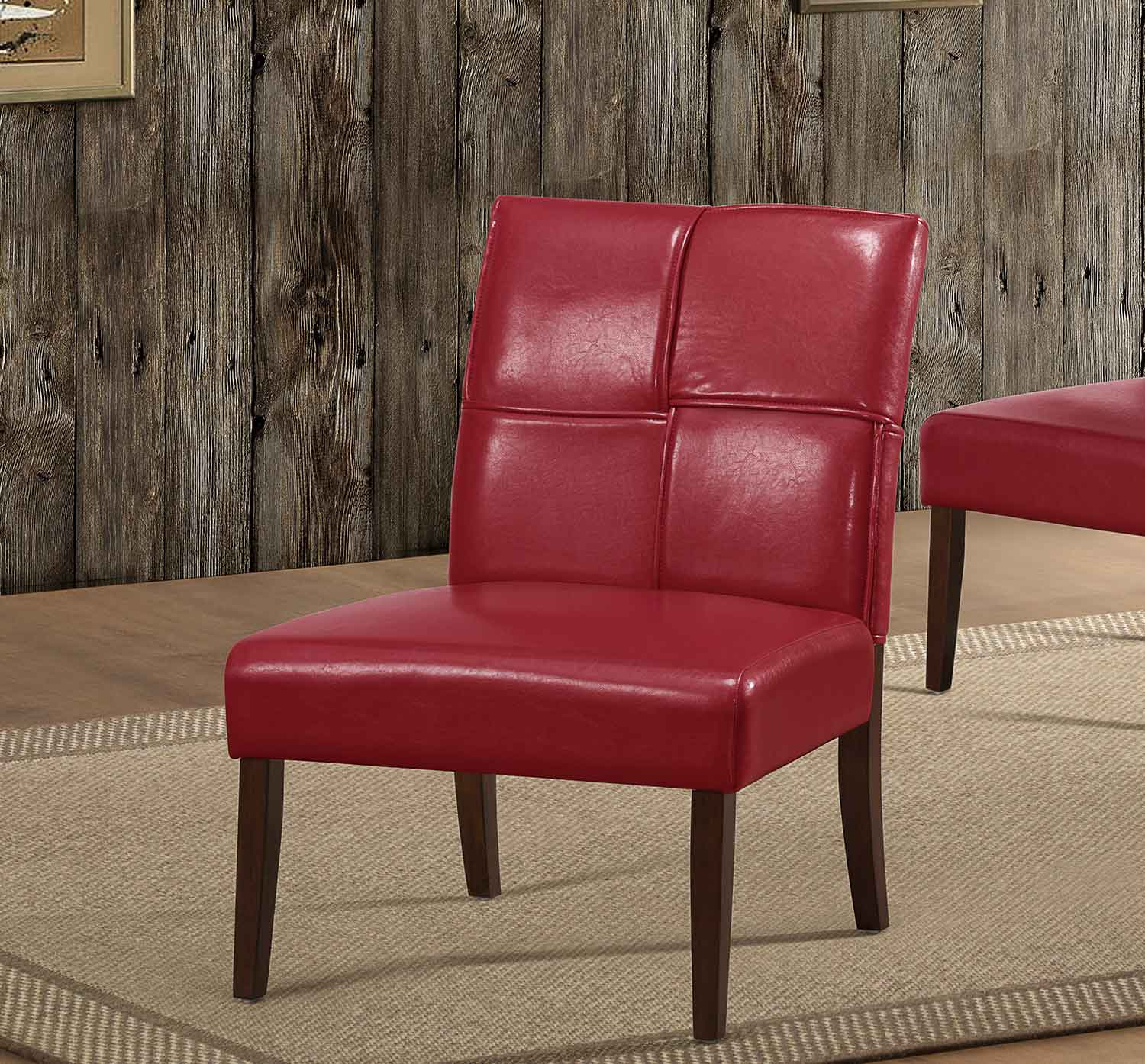 Homelegance Oriana Accent Chair - Red