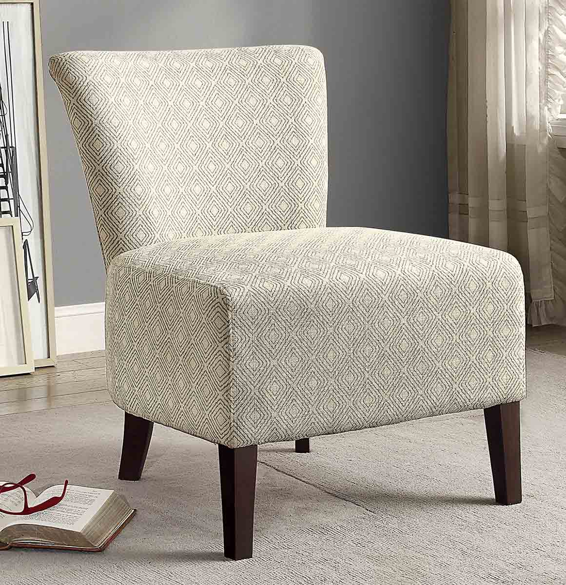 Homelegance Cotati Accent Chair - Medium Blue/Cream