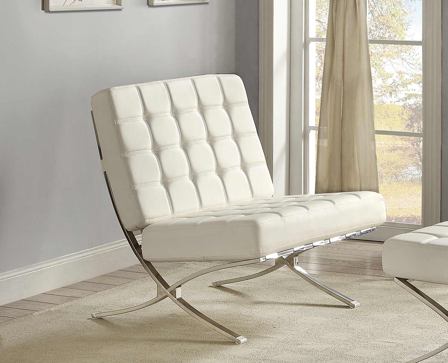 Homelegance Pesaro Chair - White