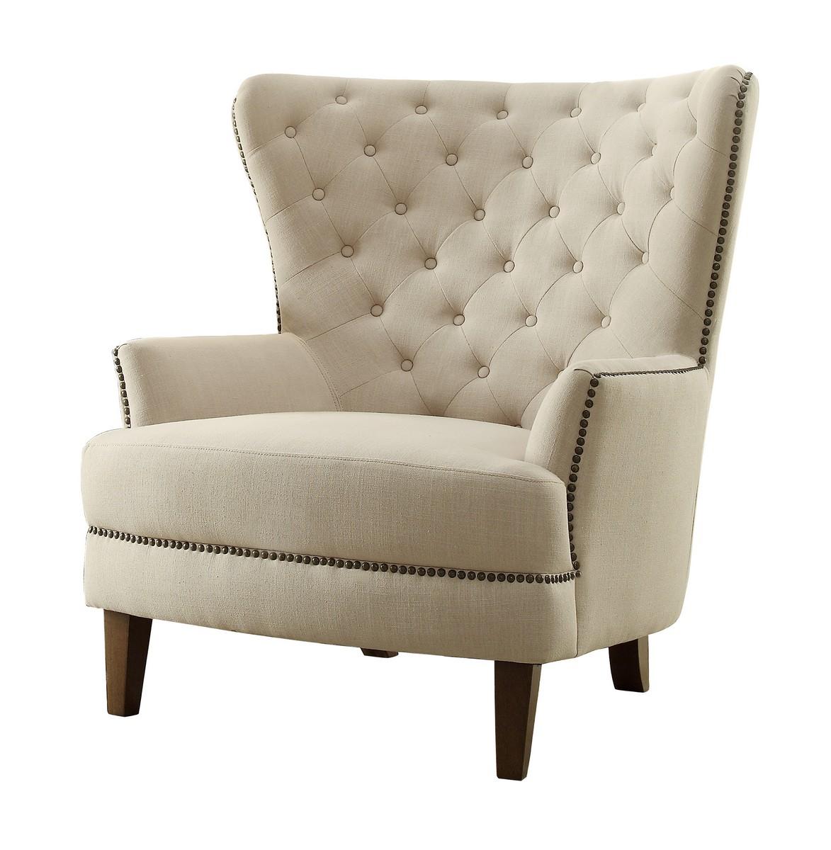 Homelegance Rhett Accent Chair Linen Natural 1266F1S