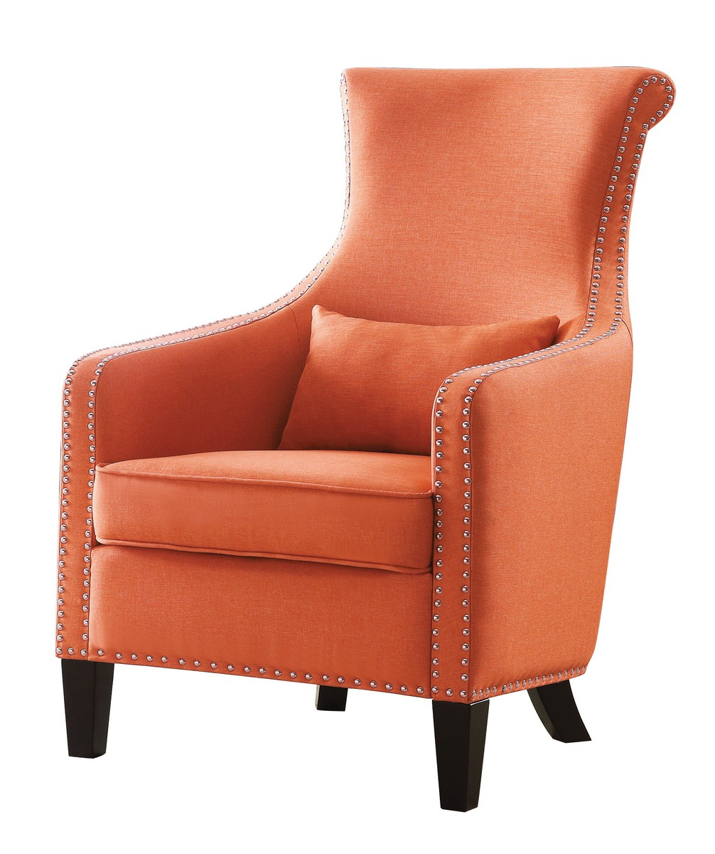 Homelegance Arles Accent Chair With 1 Kidney Pillow