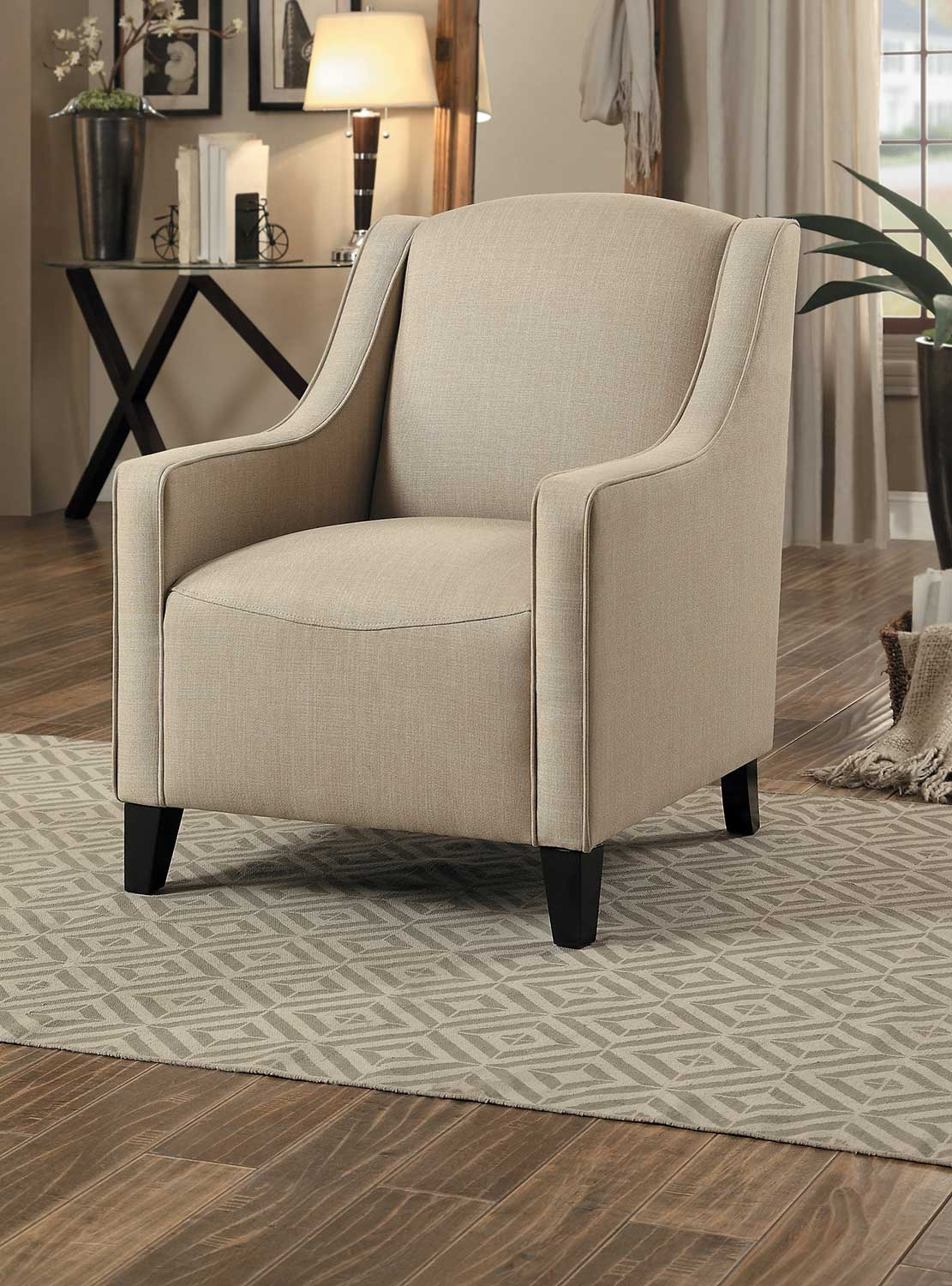 Homelegance Semplice Accent Chair - Beige