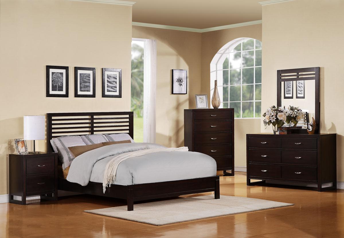 Homelegance Paula II Bedroom Set - Dark Cherry