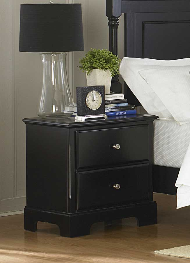 Homelegance Morelle Night Stand - Black