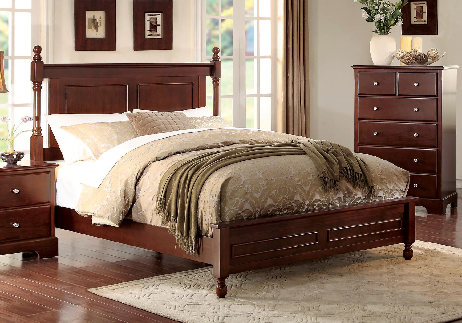 Homelegance Morelle Bed - Cherry