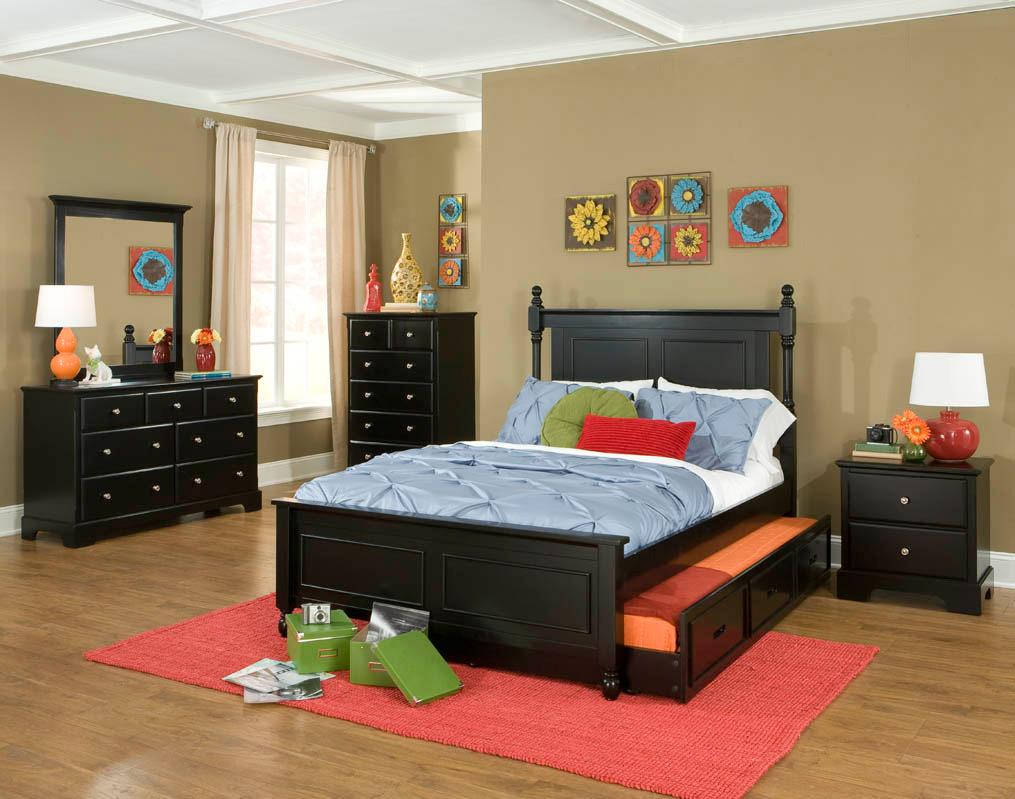 Homelegance Morelle Captain's Bedroom Set - Black