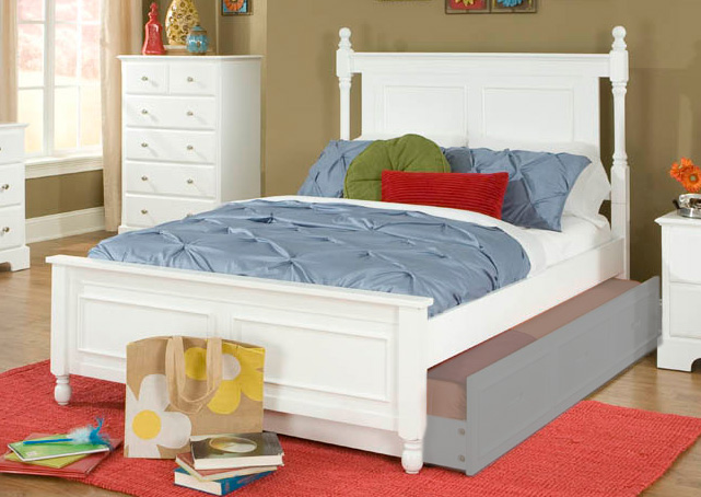 Homelegance Morelle Captain's Bed - White