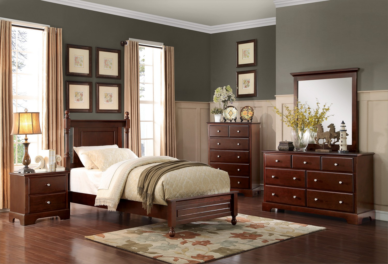 Homelegance Morelle Bedroom Set - Cherry