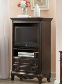 Homelegance Cinderella TV Armoire - Dark Cherry