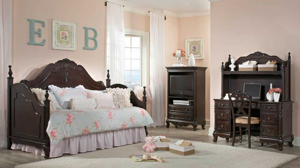 Homelegance Cinderella Bedroom Set Dark Cherry B1386NC
