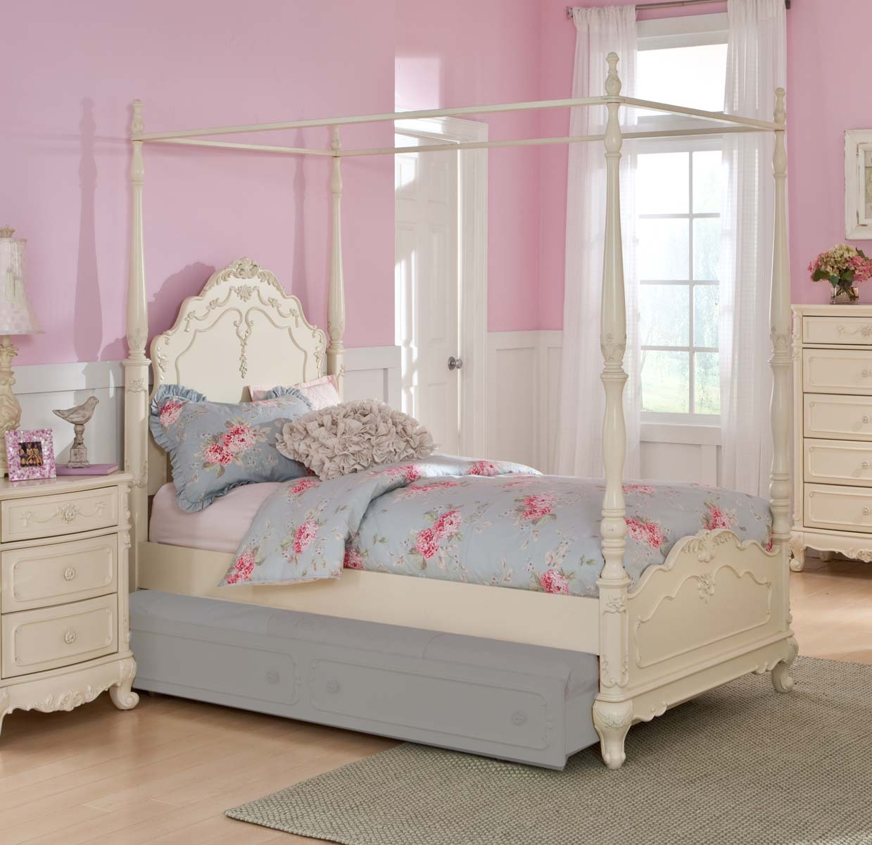 Homelegance cinderella bedroom collection ecru b1386 at for Bedroom set and mattress