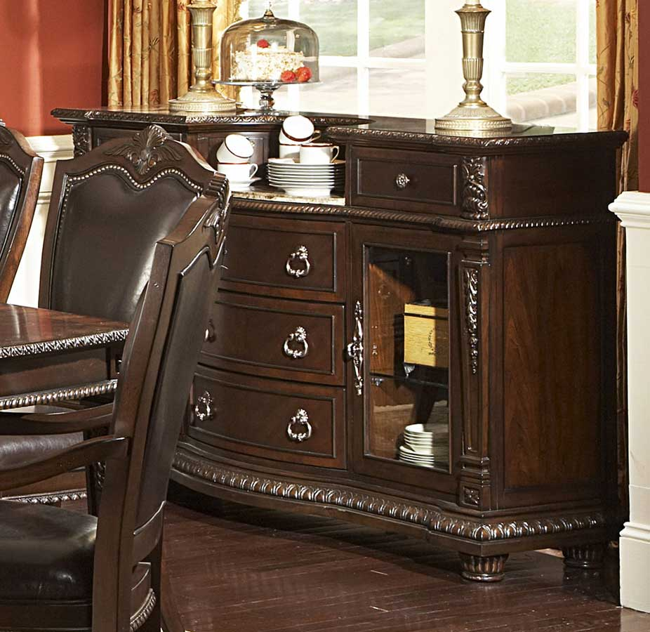 Homelegance Palace Server with Marble Top