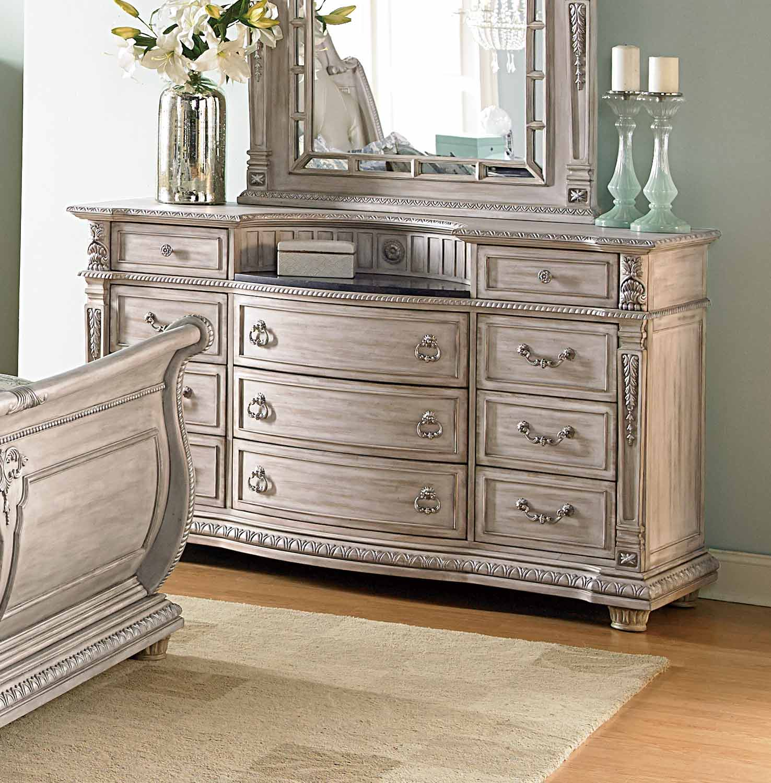Homelegance Palace II Dresser - Weathered White Rub-Through